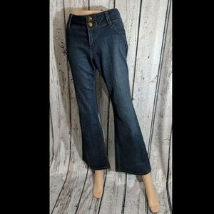 Size 10 CAbi Boot Cut Contemporary Fit Blue Jeans